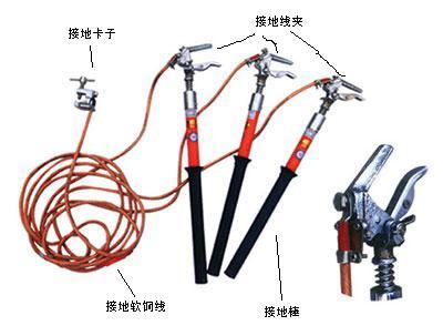 手握式接地棒,携带型短路接地线,螺旋式接地棒,高压接地棒