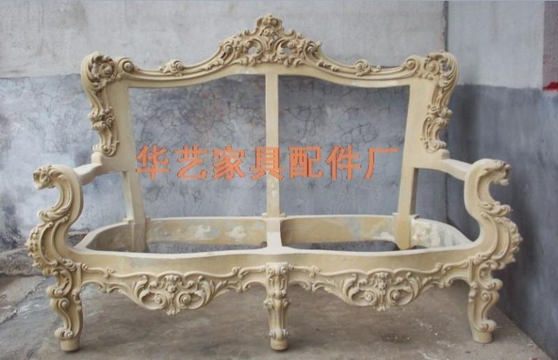 玻璃钢欧式仿古沙发架 欧式雕花沙发架 pu欧式沙发架