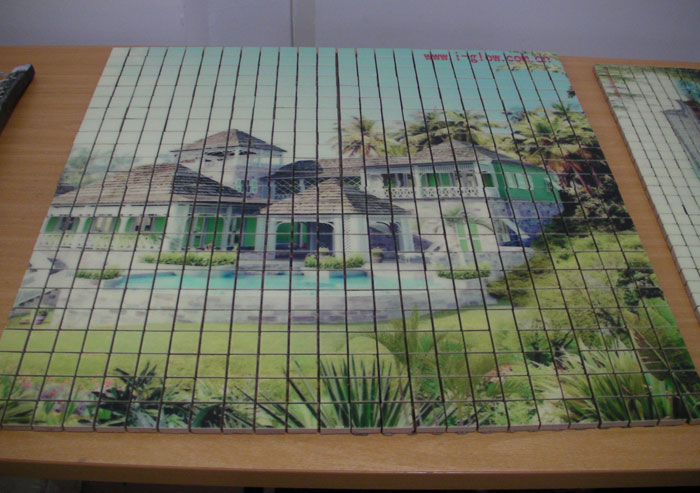 UV平板喷绘可以在任何材质上喷绘 加工的,如:艺术集成