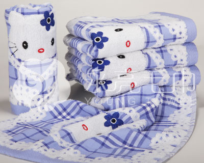 上海永亮出售浪漫系列--9273-1蓝色优质浪漫型毛巾