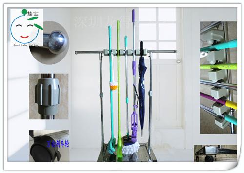 深圳品牌-挂宝不锈钢拖把架,不锈钢墩布架,不锈钢雨伞架