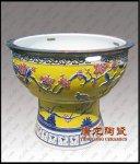 景德镇陶瓷大缸,庭院摆设陶瓷鱼缸高档陶瓷鱼缸