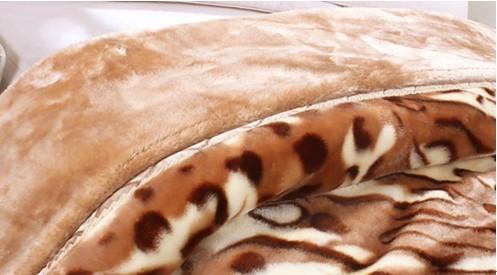 加厚拉舍尔毯 单面 印花仿毛皮毯