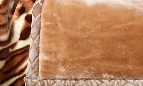 拉舍尔毯印花仿毛皮毯