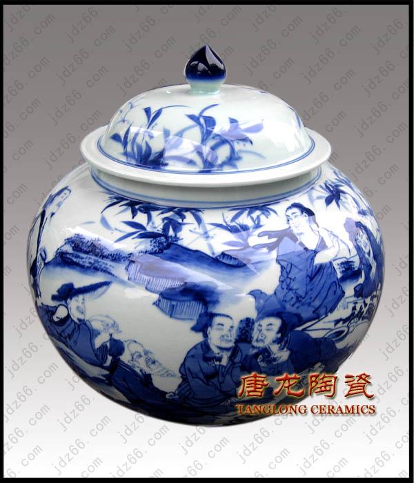 景德镇陶瓷茶叶罐青花瓷茶叶罐陶瓷密封罐陶瓷罐生产厂家