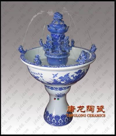 供应陶瓷喷泉订做装饰陶瓷喷泉景德镇瓷器喷泉