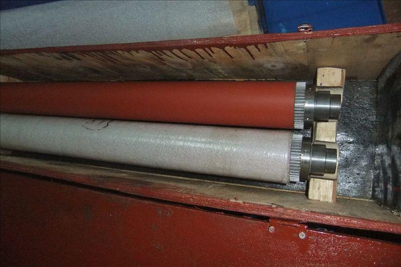 低价供应志圣自动贴膜机热压辘压条铝挤型25.1X5TX680
