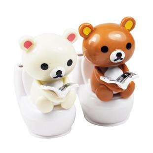 太阳能迷你马桶小熊 泰迪熊