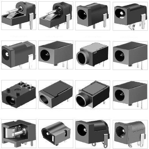 DC电源插座规格图/DC电源插座尺寸图/DC电源插座图纸