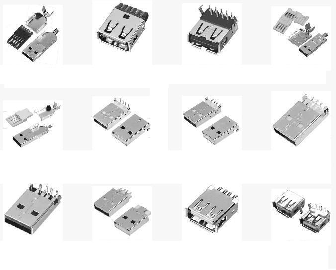 贴片式USB插座/立式USB插座/卧式USB插座
