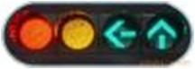 圆弧形端盖设计太阳能红绿灯 外观优美 透明度高!