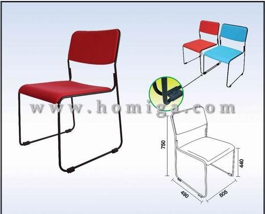 办公椅, 软座/绒布办公椅,带链接扣办公椅,广东办公椅厂家