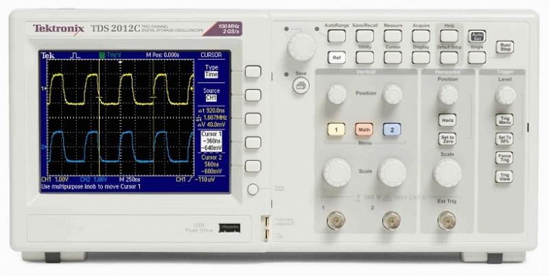 TDS2014C示波器100MHz带宽2.5 k长度2通道