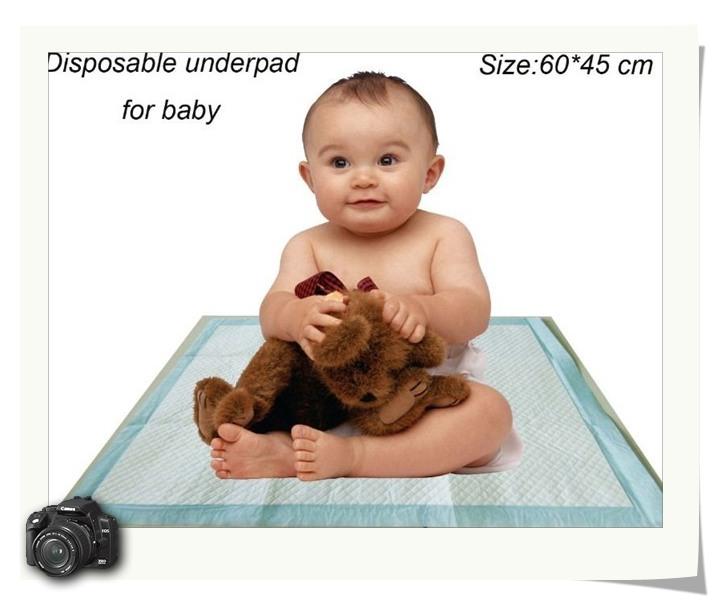 厂家供应一次性床垫婴儿垫 超强吸水持久干爽45X45CM