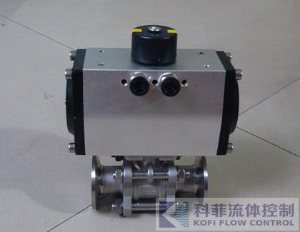 Q681F不锈钢气动三片式快装球阀1000WOG
