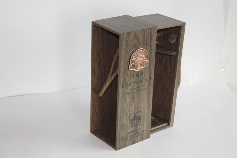 深圳红酒礼盒酒盒高档包装盒木盒版