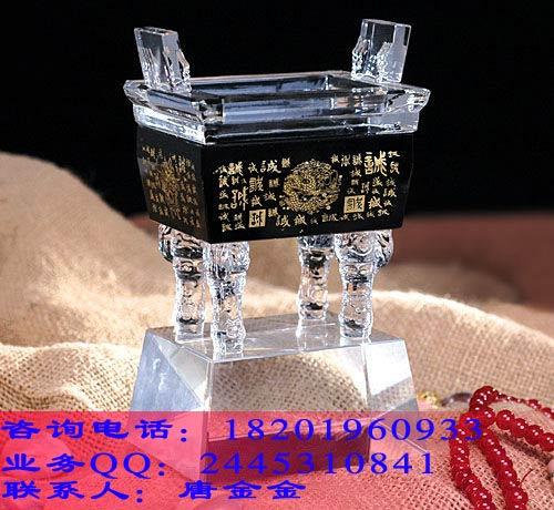 工厂投产仪式纪念品 广州工程竣工纪念品 上海水晶鼎供应