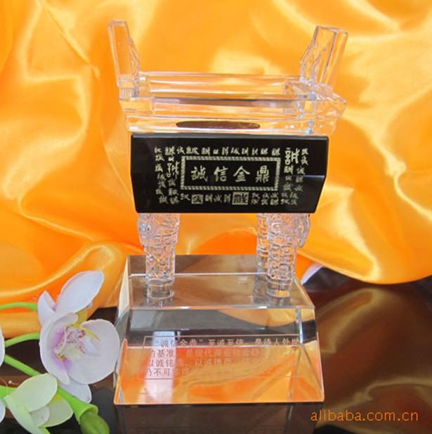 广州深圳建院周年纪念品 武汉建院100周年纪念品 武汉水晶鼎