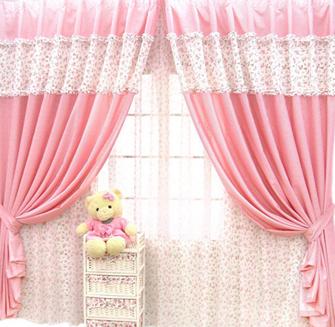 欧式客厅粉色窗帘