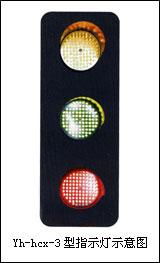 Yh-hcx滑触线专用ABC三相电压信号指示灯