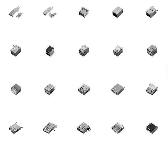 全贴USB插座/贴片USB插座/小型USB插座/微型USB插