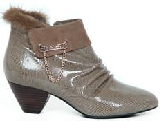 网店代理-华亭新款女鞋蜥蜴纹女鞋,一件代发