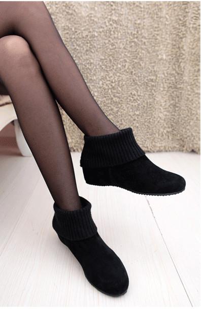 真皮女鞋代理一件代发欧逦品牌简单短靴