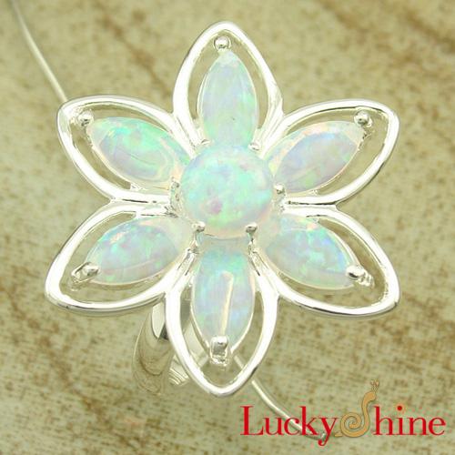 外贸热销产品 库存 澳宝戒指 天然宝石首饰 OL风格