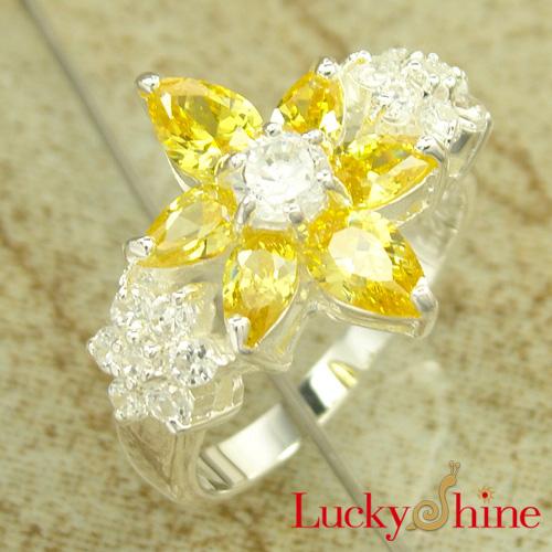 时尚流行饰品 锆石戒指 花卉款 热销产品批发戒指