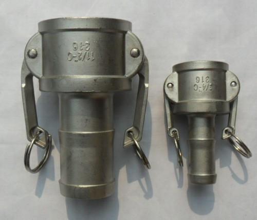 厂直销不锈钢快速接头C型/不锈钢水管快速接头(图)