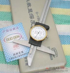 菲克苏_台海不锈钢带表深度尺0-150MM精度0.02MM