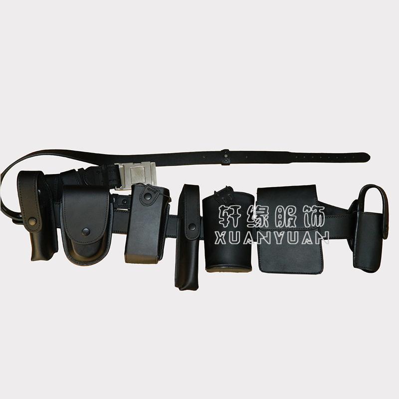 黑白色牛皮八件套 多功能腰带 牛皮八件套八大件武装带