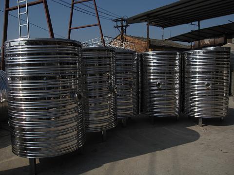 平顶型太阳能热水箱内部结构