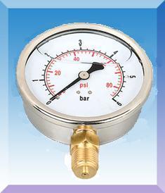 不锈钢壳普通压力表