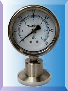 卫生型隔膜压力表Y60/100/150-MK系列