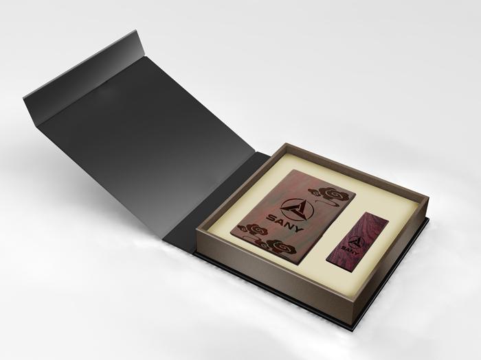 紫檀名片盒和U盘商务套装/高档红木礼品批发/珠海企业礼品定制