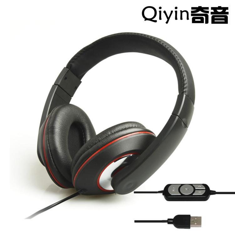 新款790A带麦克风带音控USB有线耳机 DJ有线耳机 电脑麦克风耳机
