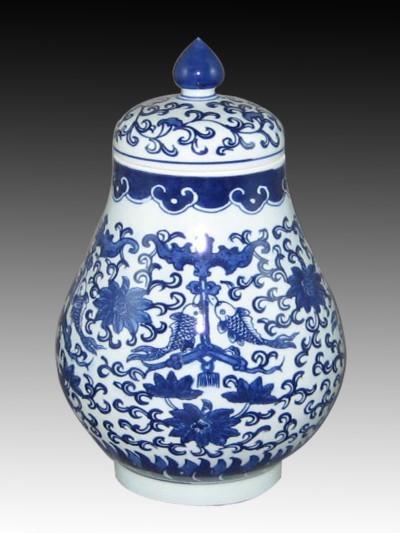 陶瓷罐子批发景德镇青花瓷罐定做陶瓷罐子