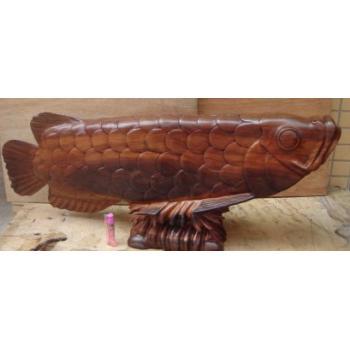 木雕鱼,木雕金龙鱼