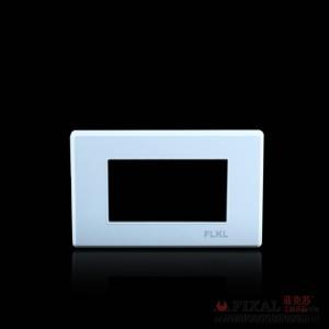 菲克苏_FLKL118型开关插座面板_远景雅白带荧光系列_二位框架 武