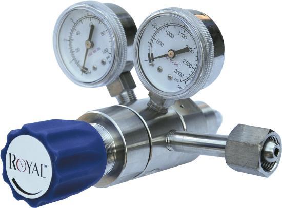 双级不锈钢减压器双级高纯气体减压阀二级高纯气体稳压阀