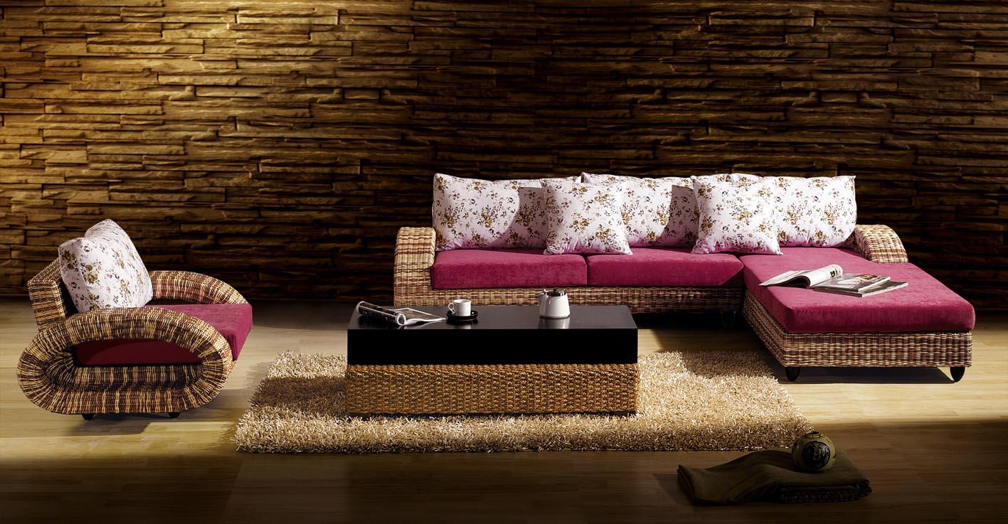 雅亿家具厂是以生产纯手工编织藤木海草家具及产品研发、销售为一体的家具企业,主营产品为藤家具和海草家具,包括沙发、床、餐桌椅、休闲椅、吊篮、屏风等产品;可以分为几大系列:如客厅系列、餐厅系列,卧室系列,休闲系列等;其产品广泛适用于家庭、酒楼、酒店、茶艺、办公、娱乐休闲宾馆、别墅、花园等场所。木材、进口天然印尼藤、泰国水草、皮料是我们产品的主要原材料;产品纯手工编织、精致布艺;包装为防护纸皮,珍珠绵、纤维袋;其中藤颜色及各种藤料(天然材料),可根据客户要求而生产,货期一般为10-20天。 【材料说明】: 1、