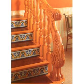 25实木立柱 实木栏杆 实木楼梯