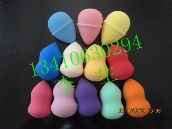 厂家超低价供应各种颜色化妆棉 BB彩妆葫芦形化妆棉