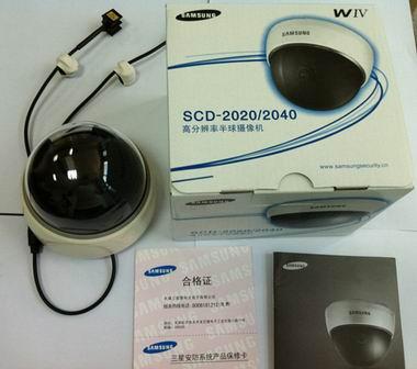 新款高清定焦广角半球SCD-2020P仿三星监控摄像机