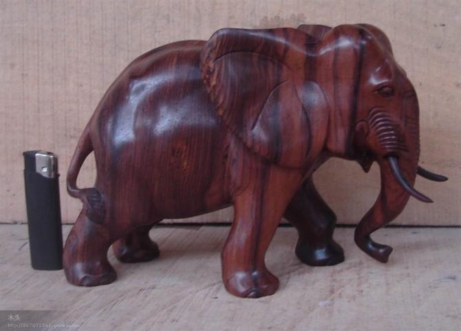 木雕大象,红木大象