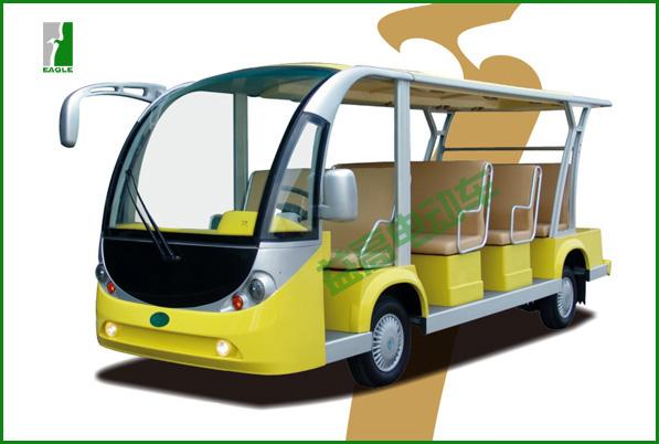"""""""新瑞""""让你轻轻的略过每一个生活细节,国际设计师精心的设计打造,流畅利落的线条,舒展的气质,与大自然盛装和谐交融,令人崇,益高与你感受姿态优雅的视觉旅游. 新瑞电动观光车是益高公司四大系列(高尔夫系列、观光车系列、电动巡逻车、工程车系列)车型之一,是续福瑞、祥瑞、吉瑞系列之后在09年推出的又一观光车新品,是本公司专为旅游景区、公园、大型游乐场、封闭小区、校园、花园式酒店、度假村、别墅区、城市步行街、机场、港口、码头等开发的环保型乘用车辆。整车性能卓越、设计人性、配置高档(车架运用航"""