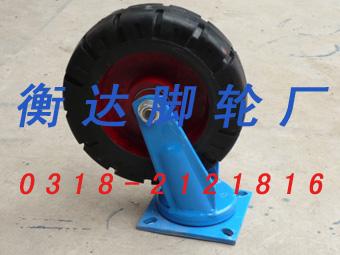 供应尼龙聚氨酯橡胶铸铁脚轮万向轮