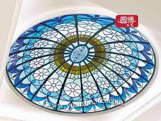 厂家直销高端定制蒂凡尼彩色玻璃穹顶