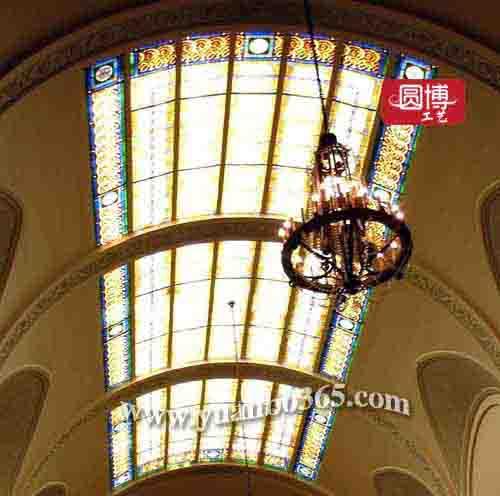 厂家设计定制欧式教堂彩色玻璃穹顶